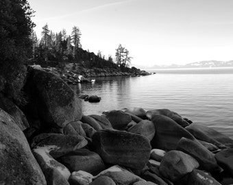 Lake Tahoe - Black & White - Available in 8x10 11x14 16x20 prints