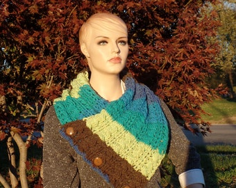 Crochet oversize cable stitch cowl pattern DIGITAL DOWNLOAD ONLY
