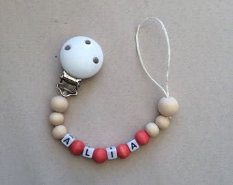 Cute personalized baby pacifier clip