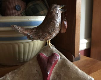 Paper Clay Carolina Wren