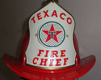 texaco fire chief hat brown and bigelow