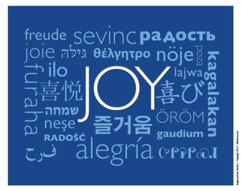 JOY Print - Size: 10 x 8 inches (Spring SALE 40% off )