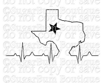 Texas Heartbeat EKG svg