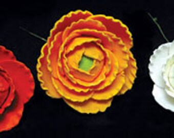 Elegant Gumpaste Ranunculus  Single  Flowers        Simply Beautiful