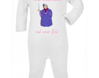 Pajamas baby Message my godmother is a fairy