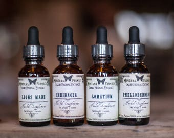 Lyme and Herbal Antibiotic Natural Extract Tinctures many to choose from Stephen Buhner protocol