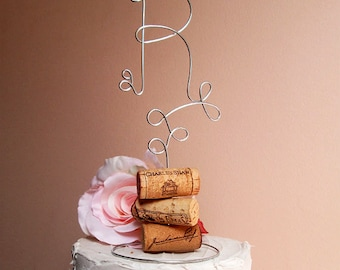 INITIAL Vineyard Wedding Cake Topper, Wine Wedding Cake Topper, Vineyard Wedding Decoration,Bridal Shower,Engagement Party,Anniversary Party
