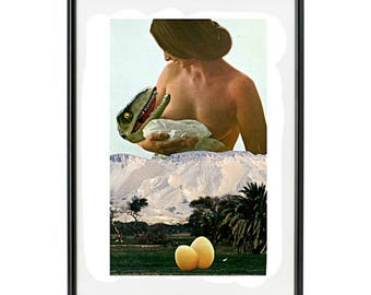 """Handmade collage paper """"Maternity"""""""