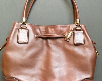 Vintage COLE HAAN Genuine Leather Large Brown Shoulder Bag