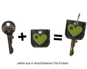 """keycover """"Schlüzi zur Krachledernen"""" heart"""