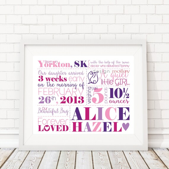 Baby gift new mom gift unique baby gift personalized baby gift baby gift new mom gift unique baby gift personalized baby gift birth stats wall art for baby nursery print nursery art baby shower gift negle Image collections