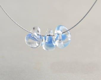 Perle Lampwork, bleu clair, perle, perle de l'été, perle en verre 10mm, un