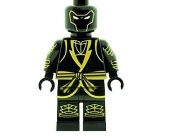 Custom Designed Minifigure - Samurai Warrior Printed On LEGO Parts