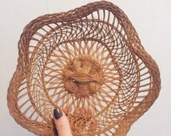 Vintage Jute Catchall Basket