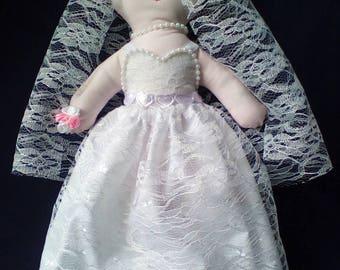 Handmade Ragdoll Bride.