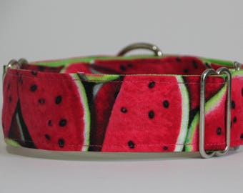 "Whippet - Watermelon 1.5"" Martingale Collar"