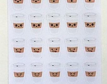 Kawaii Koffee Icon Stickers