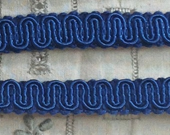 Vintage Scroll Gimp Royal Navy Blue 3 yards - Conso Vintage Scroll Gimp Yardage C21