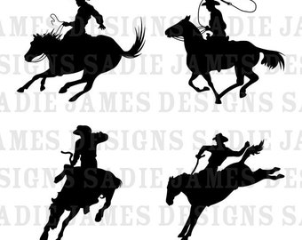 Cowboy SVG and Silhouette Studio cutting file, Instant Download
