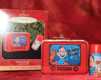 Howdy Doody Lunch Box Set Hallmark Keepsake Ornament