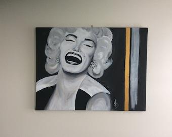 "Painting 24 ""x 18"" / painting / Marilyn Monroe portrait"