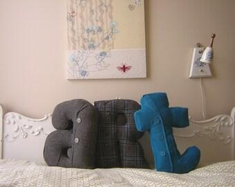 Alphabet pillows - custom