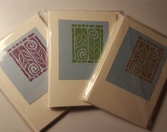 Set of 3 packs. Twisted Flowers notecards.