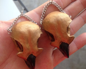 replica eagle skull ear weights