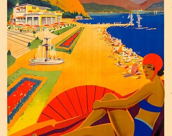 Vintage Travel Poster, Travel Poster, Travel, France, Christmas Gift