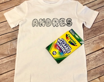 Personalized Coloring Shirt