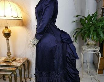 1879 Princess Stil Bustle dress, antique dress, antique gown, Victorian Dress, antikes Kleid