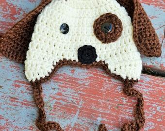 Newborn Crochet Puppy Hat!