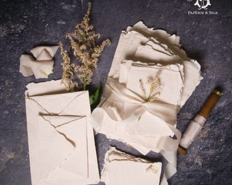Hand Made Paper-Blush, Deckle edge, letterpress paper, wedding invitation paper, calligraphy paper, wedding invitation, RSVP card
