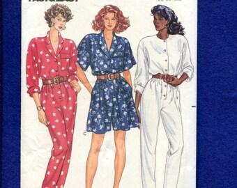 1989 Butterick 3508 Fun in the Sun Flared Leg Romper & Tapered Leg Jumpsuit Size 8..10..12 UNCUT