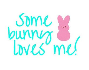 DIY Iron On Transfer For Easter!: Some Bunny Loves Me!