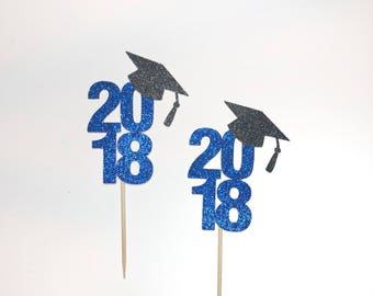 Graduation Cupcake Toppers graduation cupcake topper 2018 grad party college high school party decoration class of 2018 graduation 2018
