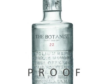 The Botanist Gin Giclée Limited Edition Print of my original watercolour