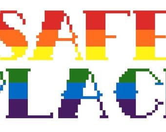 Safe place digital cross stitch pattern *PDF file*