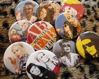 Absolutely Fabulous Pinbacks or Magnets