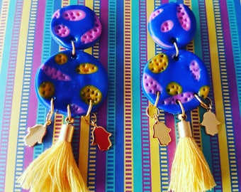 Handmade statement earrings