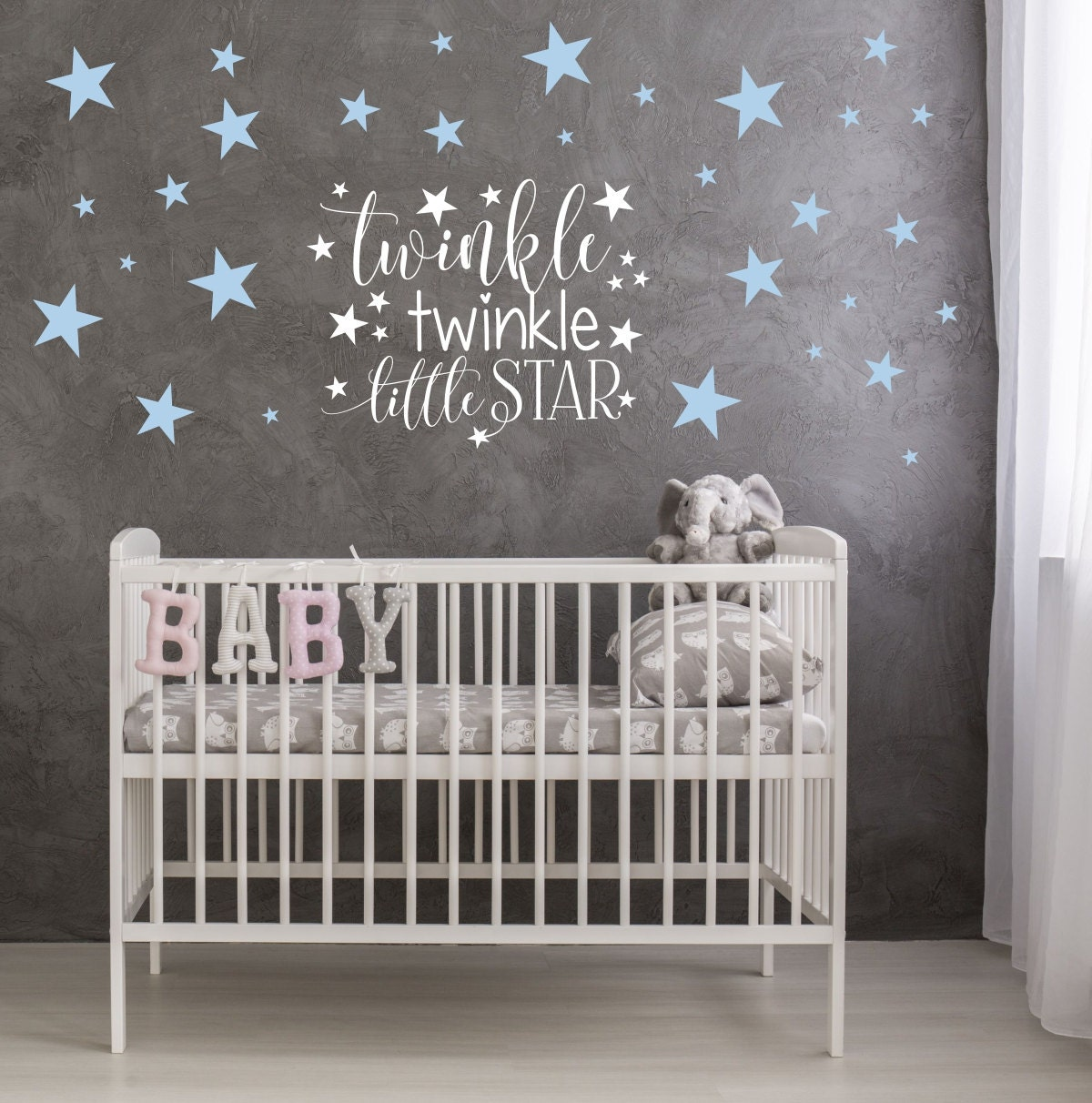 twinkle twinkle little star nursery decor star wall decals
