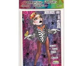 Dyan Reaveley's Dylusions - Adhesive Canvas Set 2 / Postcards / Die cuts - Mixed Media