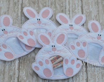 5 Bunny Party Favor Bag, Easter Treat Bag, Party Gift Bag, Bunny Easter Gift, Gift Card Holder