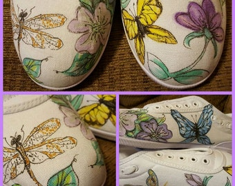 Butterflies and dragonfly shoes