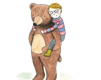 Greetings Card- 'Bear Hugs'