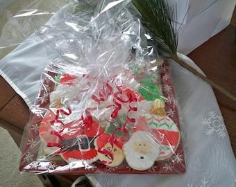 Designer Christmas Sugar cookies - Christmas Cookies - Cookie exchange - Holiday Cookies - Christmas Party Favors - Santa - Christmas Party