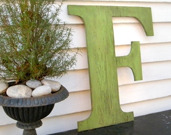 Distressed Large Letters 24 inch Extra Large Wooden Letters Shabby Chic Available in letters A-Z Dorm Decor Wedding Photo