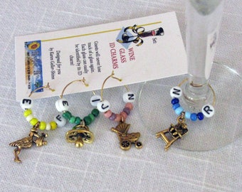 Wine Glass Charms Naming Baby