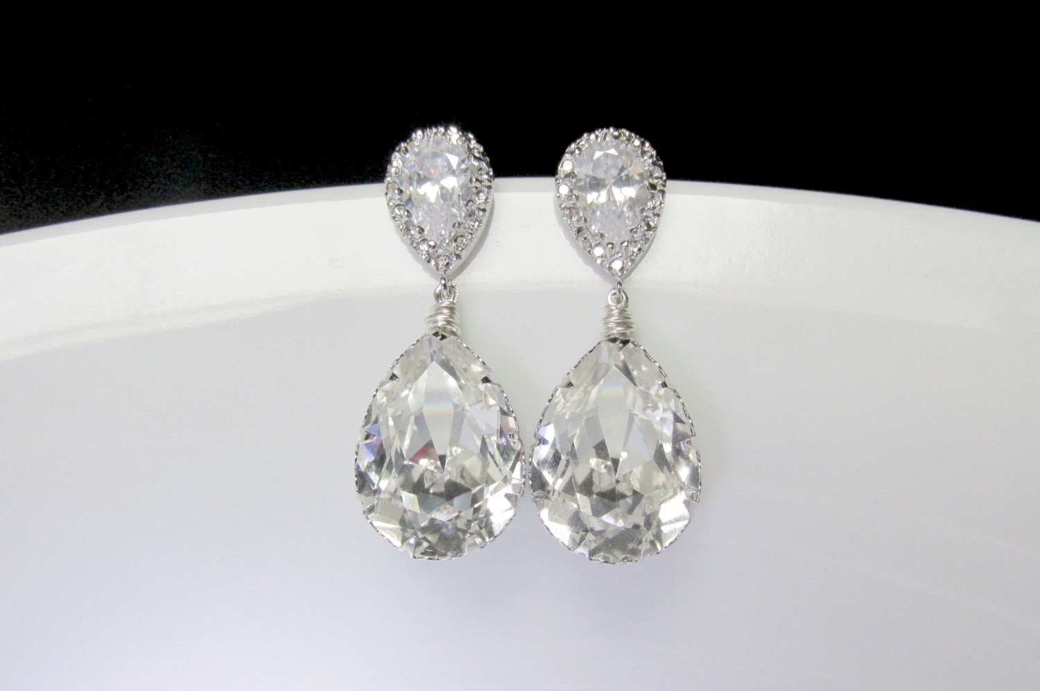 style il for jewelry products by treasures earrings bridal bride swarovski vintage fullxfull wedding teardrop gift chandelier crystal agnes