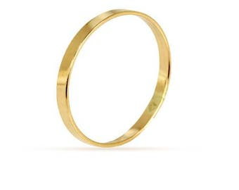 Finger Rings, Flat Ring, Size 3, 14Kt Gold Filled,  2.25mm - 1 Pc Wholesale Price (11618)/1